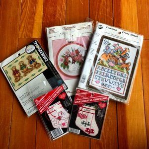Assorted Cross Stitch & Embroidery Kits